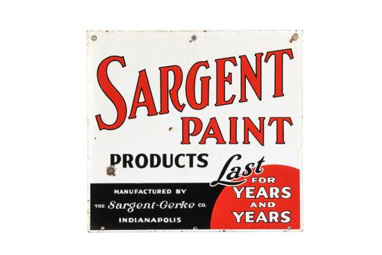 Sargent Paint Products Porcelain Sign