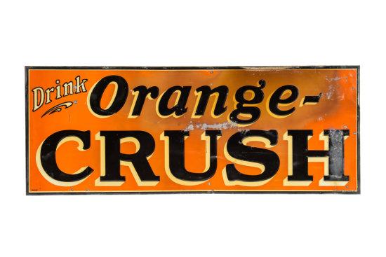 Drink Orange-Crush Horizontal Tin Sign
