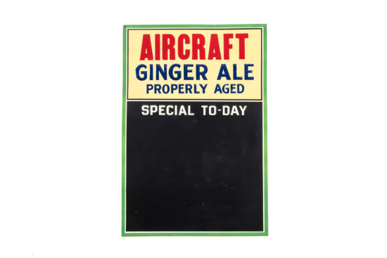 Aircraft Ginger Ale Properly Aged Tin Sign