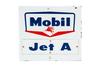 Mobil Jet A Gasoline Porcelain Gas Pump Sign