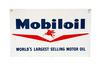 Mobiloil Largest Selling Motor Oil Tin Sign