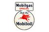 Mobilgas Mobiloil Tin Keyhole Gas Pump Sign