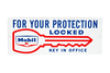 Mobil For Your Protection Locked Porcelain Sign