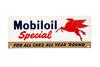 Mobiloil Special Motor Oil Tin Rack Sign