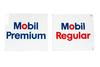 2 Mobil Gasoline Porcelain Gas Pump Signs