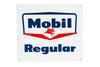 Mobil Regular Gasoline Porcelain Gas Pump Sign