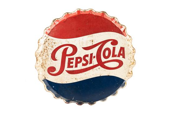 Pepsi-cola Bottle Cap Sign