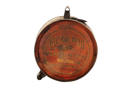 Kick-a-poo Motor Oil Metal Five Gallon Rocker Can