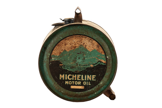 Micheline Motor Oil Metal Five Gallon Rocker Can