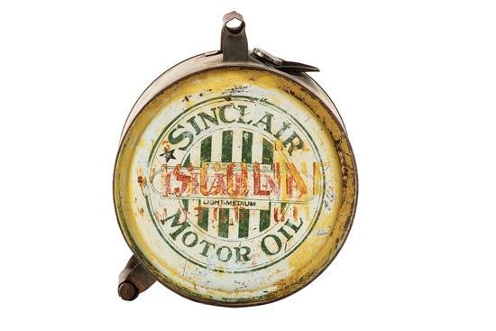 Sinclair Opaline Motor Oil Metal Five Gallon Rocker Can