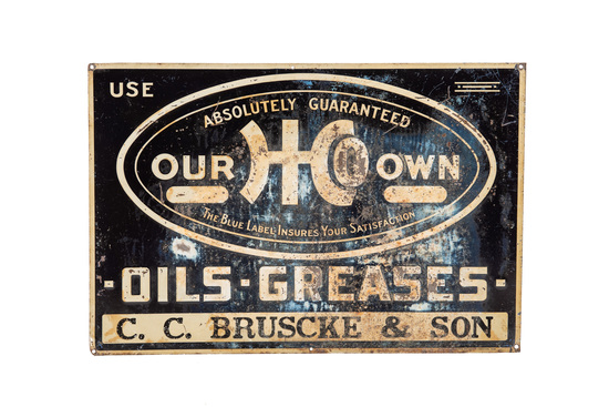 """Our Own """"oils-grease"""" Sign"""