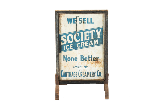 """We Society Ice Cream """"none Better"""" Sign"""
