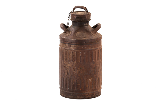 Embossed Sinclair Ten Gallon Gas Can W/lid