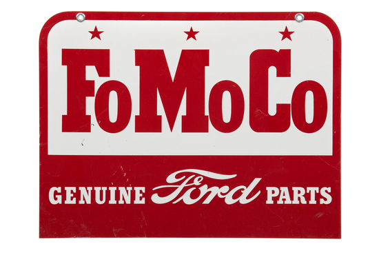 Fomoco Genuine Ford Parts Tin Sign