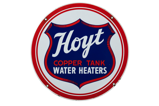 Hoyt Water Heaters Porcelain Sign