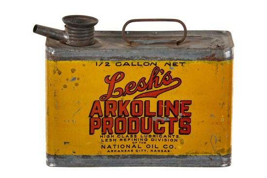 Lesh's Motor Oil 1/2 Gallon Can