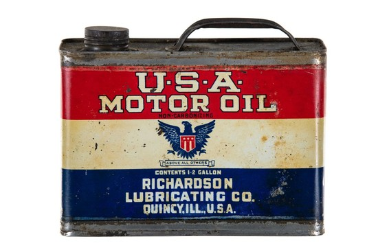 Richardson U.S.A. Motor Oil 1/2 Gallon Can