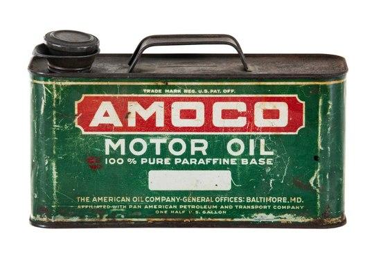 Amoco Motor Oil 1/2 Gallon Can