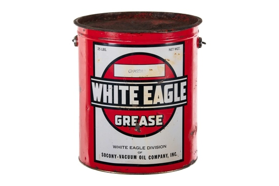 Socony White Eagle Grease Can