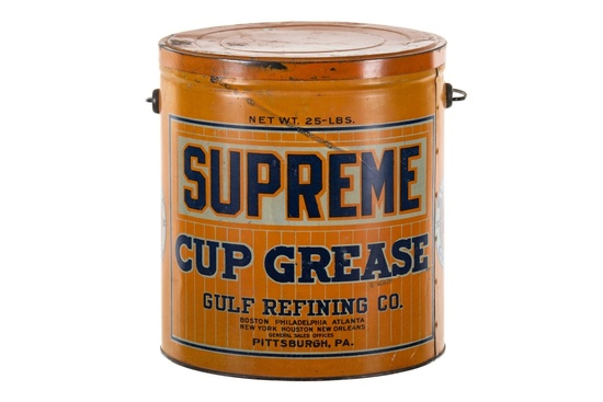Early Gulf Supreme Cup Grease Can