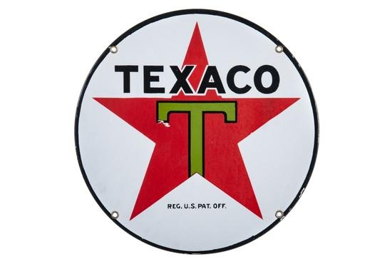 Texaco Lubester Porcelain Sign