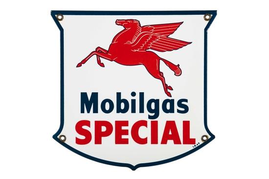 Mobilgas Special Porcelain Pump Plate