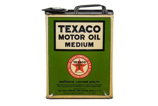 Texaco Medium Motor Oil 1 Gallon Can