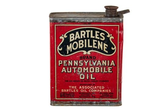 Bartles Mobilene 1 Gallon Oil Can