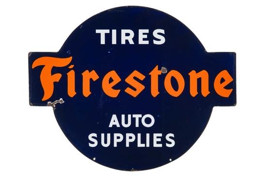Firestone Tires & Auto Supplies Porcelain Sign