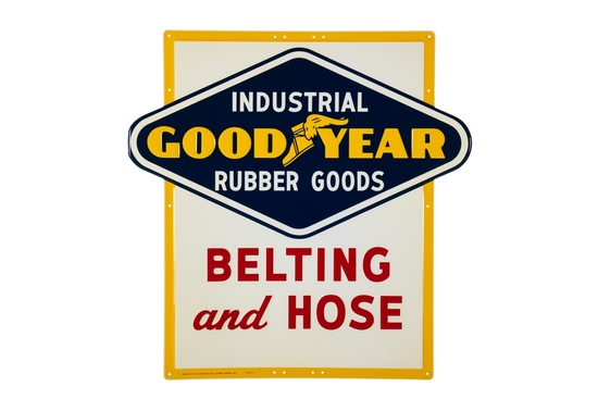 Goodyear Tires Belting & Hose Tin Sign