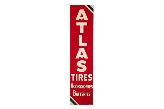 Atlas Tires & Batteries Tin Sign
