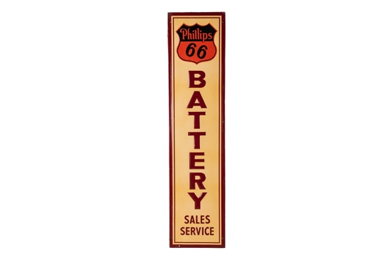 Phillips 66 Battery Sales & Service Tin Sign