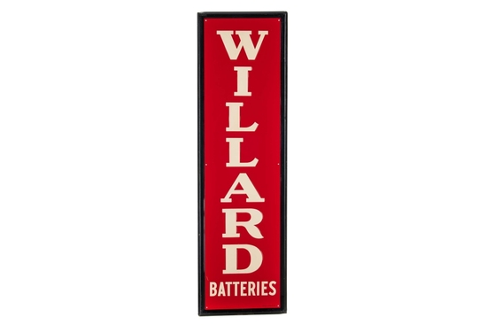 Willard Batteries Tin Sign