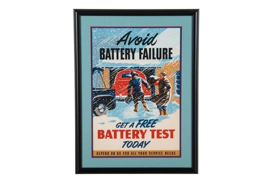 Avoid Battery Failure Framed Advertisement