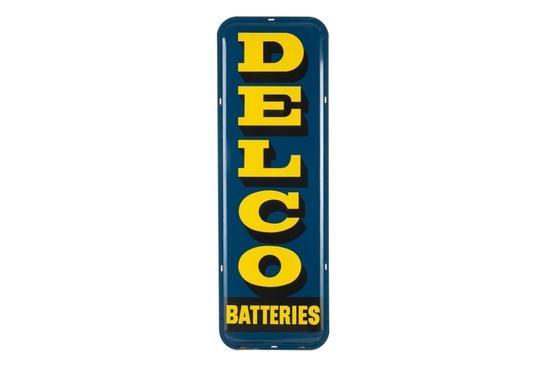Delco Batteries Tin Sign