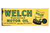 Welch Motor Oil Tin Sign