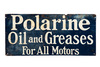 Early Polarine Oil & Greases Tin Sign