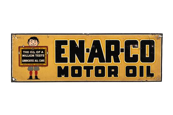 White Rose Enarco Motor Oil Tin Sign