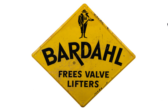 Bardahl Motor Oil Tin Sign
