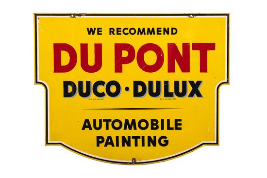 Dupont Auto Paint Tin Sign