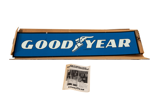 Nos Goodyear Tires Tin Sign
