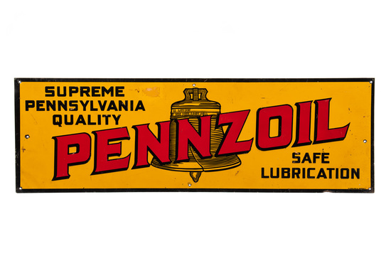 Pennzoil Motor Oil Tin Sign