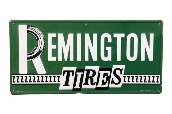 Remington Tires Tin Sign