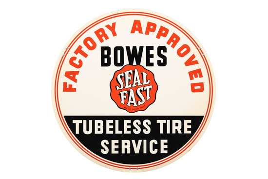 Bowes Seal Fast Tubeless Tire Service Tin Sign