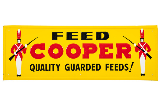 Feed Cooper Quality Guarded Feeds Sign