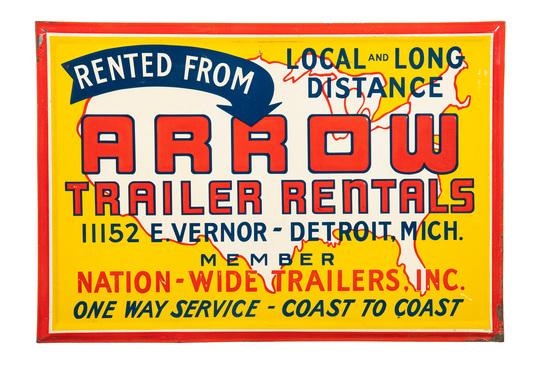 Arrow Trailer Rentals Sign