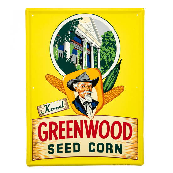 Greenwood Seed Corn Sign