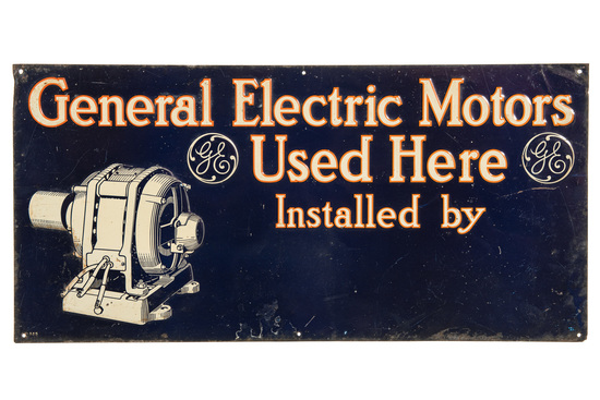 General Electric Motors Used Here Sign