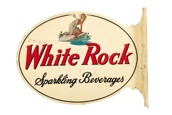 White Rock Sparkling Beverages Flange Sign
