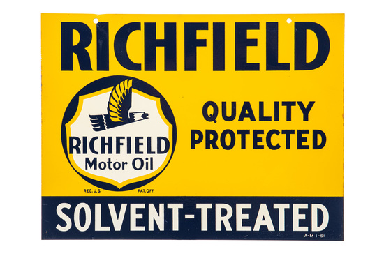 Richfield Solvent-treated Hanging Sign